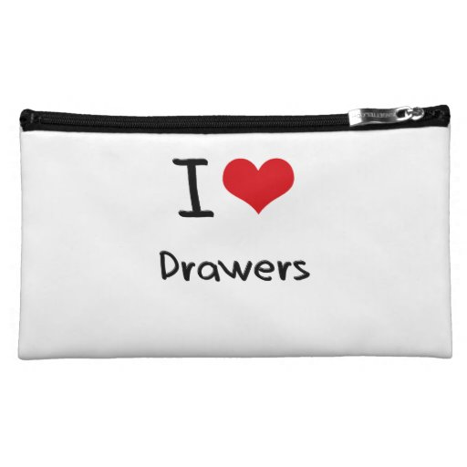 I Love Drawers Cosmetic Bags