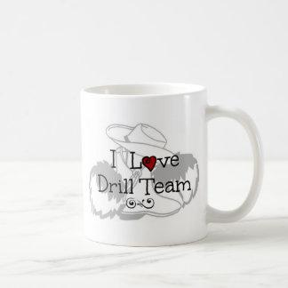 I Love Drill Team Basic White Mug