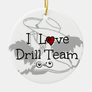 I Love Drill Team Christmas Ornament