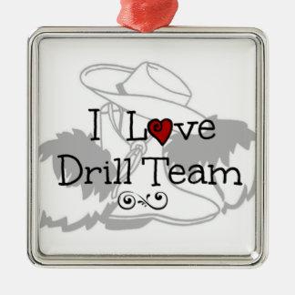 I Love Drill Team Christmas Tree Ornaments