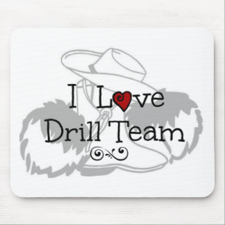 I Love Drill Team Mouse Pad