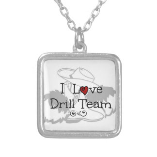 I Love Drill Team Necklace