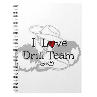 I Love Drill Team Note Books