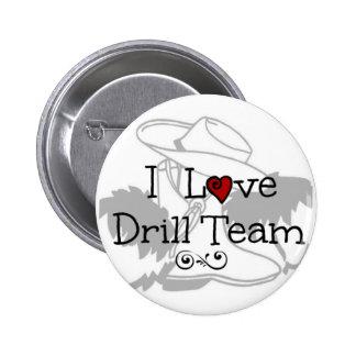I Love Drill Team Pins