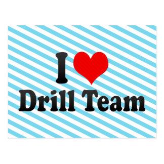 I love Drill Team Postcard
