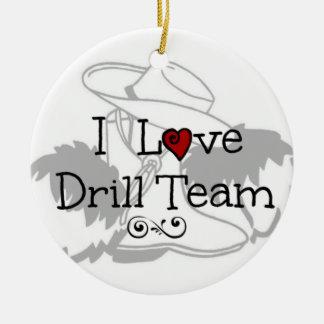 I Love Drill Team Round Ceramic Decoration