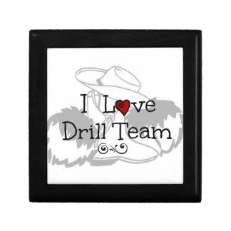I Love Drill Team Small Square Gift Box