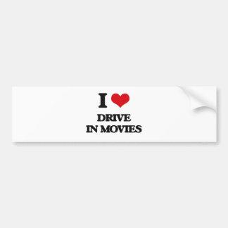I love Drive In Movies Bumper Sticker