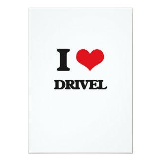 "I love Drivel 5"" X 7"" Invitation Card"