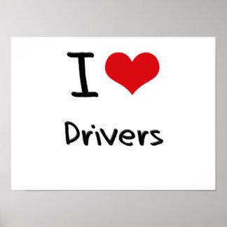 I Love Drivers Print