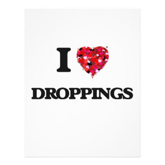 I love Droppings 21.5 Cm X 28 Cm Flyer