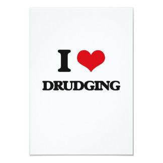 "I love Drudging 3.5"" X 5"" Invitation Card"