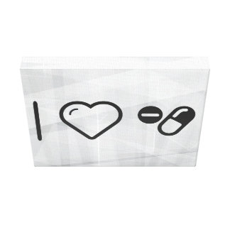I Love Drugs Capsules Gallery Wrap Canvas