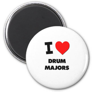 I Love Drum Majors 6 Cm Round Magnet