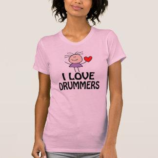 I Love Drummers Womens T-shirt