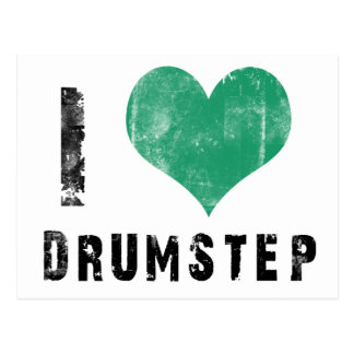 I Love Drumstep Post Cards