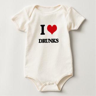 I love Drunks Baby Bodysuits