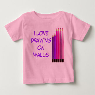 I love drwing on walls baby T-Shirt