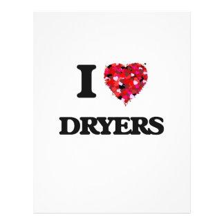 I love Dryers 21.5 Cm X 28 Cm Flyer