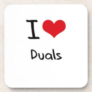 I Love Duals Coasters