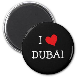 I Love DUBAI 6 Cm Round Magnet