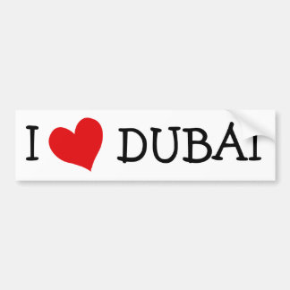 I Love DUBAI Car Bumper Sticker