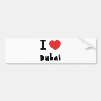 I love Dubai Bumper Sticker