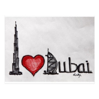 I Love Dubai Postcard