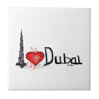 I love Dubai Small Square Tile