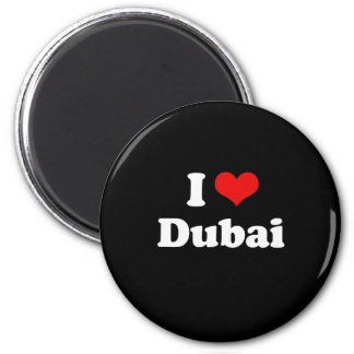 I Love Dubai Tshirt 6 Cm Round Magnet