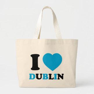 I Love Dublin Tote Bags