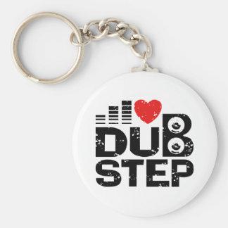 I Love Dubstep Basic Round Button Key Ring