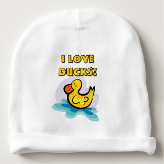I Love Ducks Baby Beanie