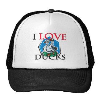 I Love Ducks Hat