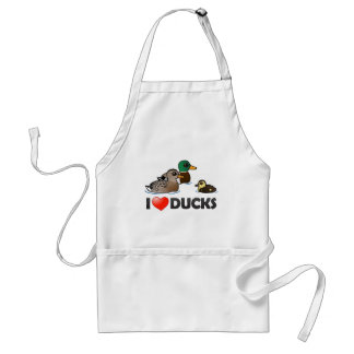 I Love Ducks Standard Apron