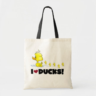 I Love Ducks Tshirts and Gifts Budget Tote Bag