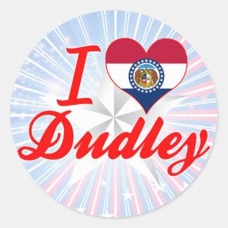 I Love Dudley, Missouri Round Stickers