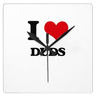 I love Duds Square Wallclocks
