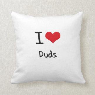 I Love Duds Throw Pillows