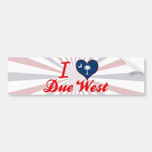 I Love Due West, South Carolina Bumper Stickers