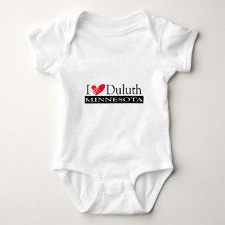 I Love Duluth Minnesota Baby Bodysuit
