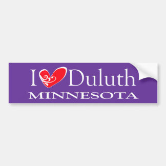 I Love Duluth Minnesota Bumper Sticker