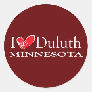 I Love Duluth Minnesota Round Sticker