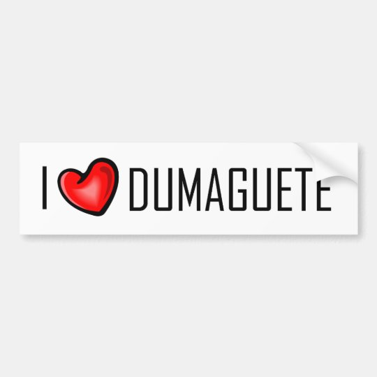 I LOVE DUMAGUETE BUMPER STICKER