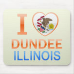 I Love Dundee, IL Mouse Pads