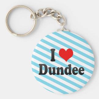 I Love Dundee, United Kingdom Basic Round Button Key Ring
