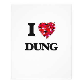 I love Dung 11.5 Cm X 14 Cm Flyer
