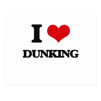 I love Dunking Post Card