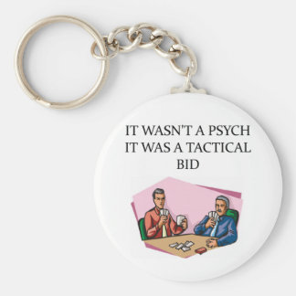 i love duplicate brige basic round button key ring