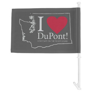 I Love DuPont, WA flag Car Flag